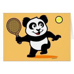 Greeting Card with Cute Tennis Panda design