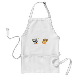 Apron with Cute Tennis Lion Vs Panda design
