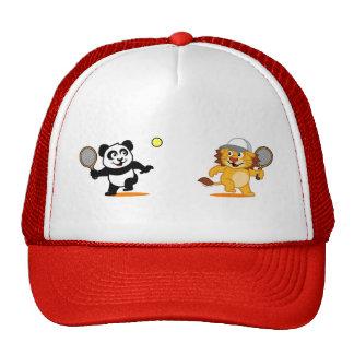 Tennis Panda & Lion Trucker Hat