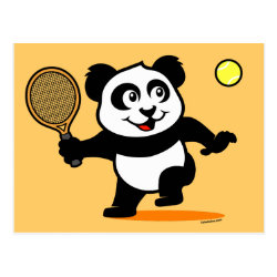 Postcard with Cute Tennis Panda design