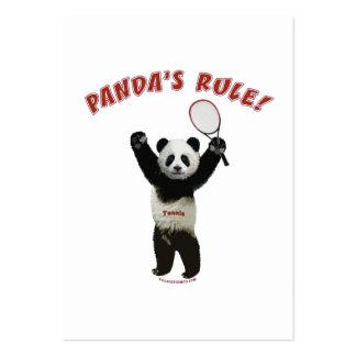Tennis Panda s Rule Business Card Templates