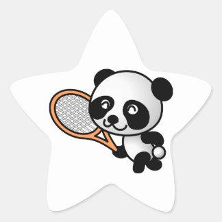 Tennis Panda Star Sticker