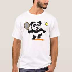 Men's Basic T-Shirt with Cute Tennis Panda design