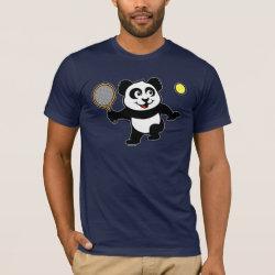 Men's Basic American Apparel T-Shirt with Cute Tennis Panda design
