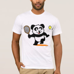 Men's Basic American Apparel T-Shirt with Cute Tennis Panda design