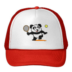 Trucker Hat with Cute Tennis Panda design