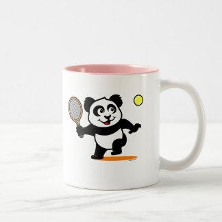 Tennis Panda Two-Tone Coffee Mug