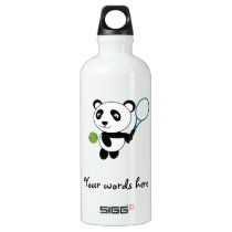 Tennis Panda Water Bottle