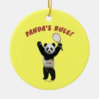 Tennis Panda's Rule Ornament