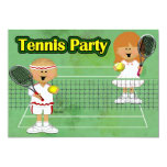 Tennis Party 5x7 Paper Invitation Card