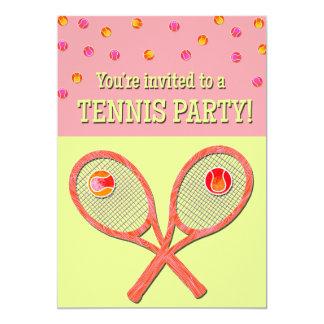 Tennis Party Invite