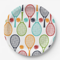 Tennis Party Supplies Tennis Decorations Paper Plate