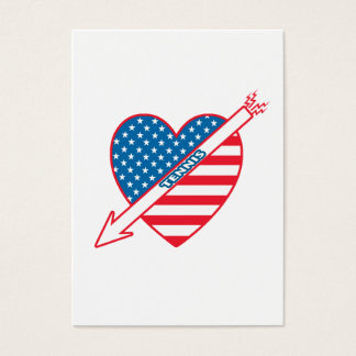 Tennis Patriot Heart Business Card