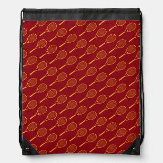 tennis pattern-design drawstring bag