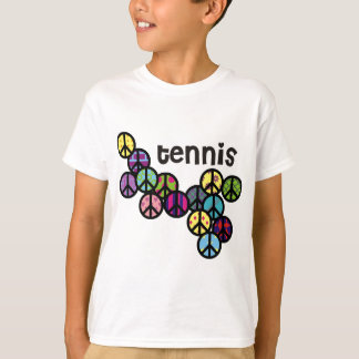 Tennis Peace Signs Filled T-Shirt