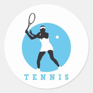 tennis etiquetas redondas