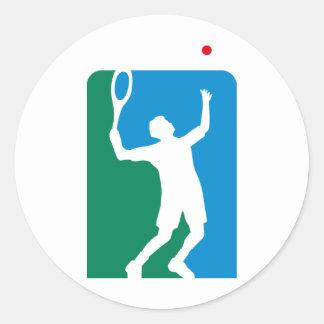 tennis pegatina redonda