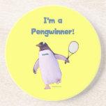 Tennis Penguin Drink Coaster