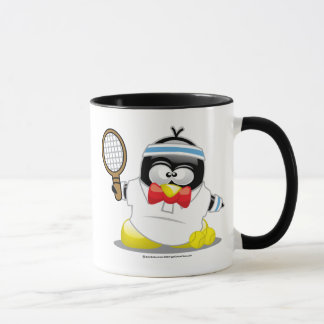 Tennis Penguin Mug