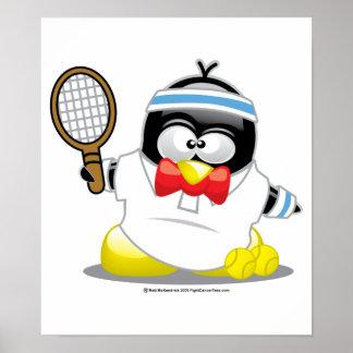 Tennis Penguin Posters