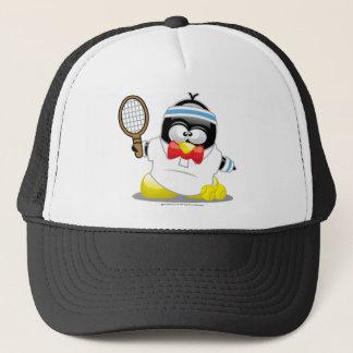 Tennis Penguin Trucker Hat