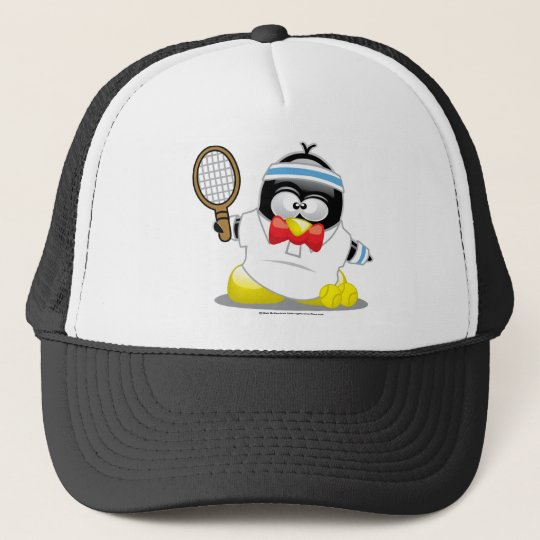 Tennis Penguin Trucker Hat