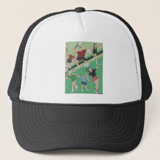 tennis people on the court trucker hat