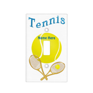 TENNIS Personalized Light Switch Covers