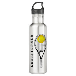 Tennis Personalized Name or Monogram 24oz Water Bottle