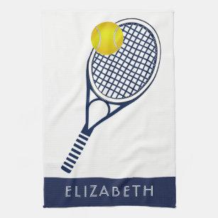 Tennis Personalized Name Or Monogram Kitchen Towel