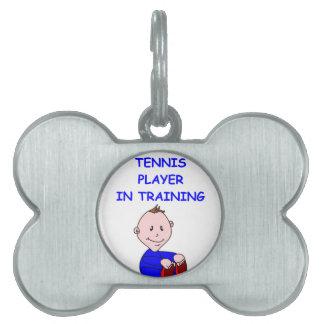 TENNIS PET NAME TAGS