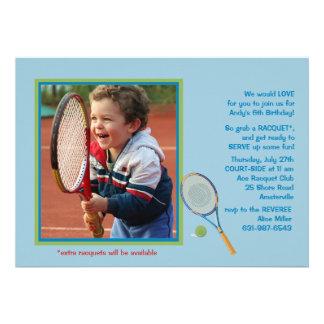 Tennis Photo Invitation
