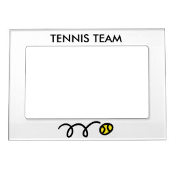Tennis picture frame magnet