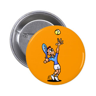 Tennis Pinback Button