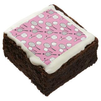 Tennis pink black white picnic brownie