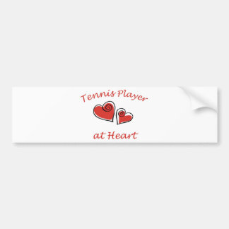 Tennis Player at Heart Car Bumper Sticker