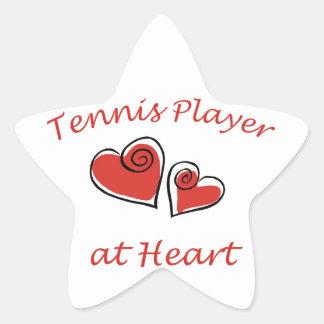 Tennis Player at Heart Star Sticker