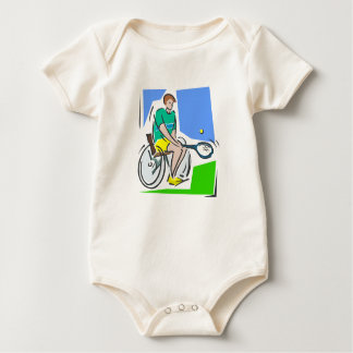 Tennis Player Baby Bodysuit