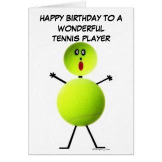 Tennis Player Birthday Card