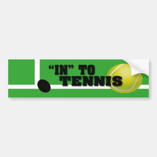 Tennis Player Bumper Sticker