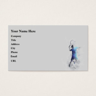 TENNIS PLAYER - Business cards