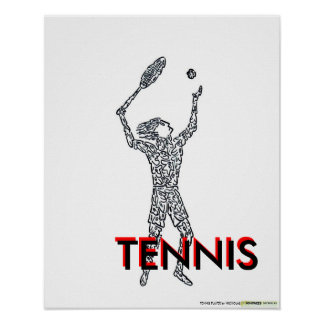 TENNIS PLAYER by NICHOLAS      ... Poster
