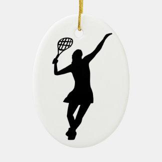 Tennis Player Ceramic Ornament
