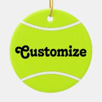 Tennis Player Custom Name/Text Christmas Ornament