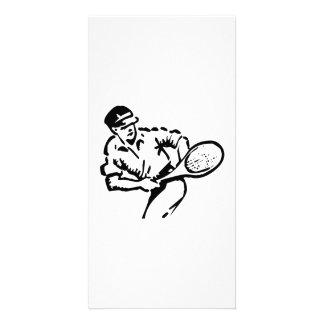 Tennis Player Custom Photo Card