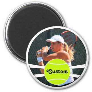 Tennis Player Custom Player Photo & Name or Text Magnet