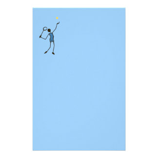 Tennis player customized stationery