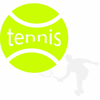 Tennis player cutout