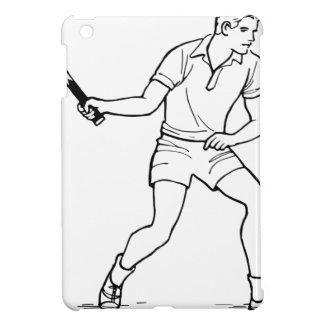Tennis Player Drawing iPad Mini Covers