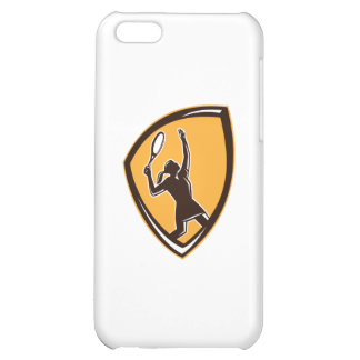 Tennis Player Female Racquet Shield Retro Cover For iPhone 5C
